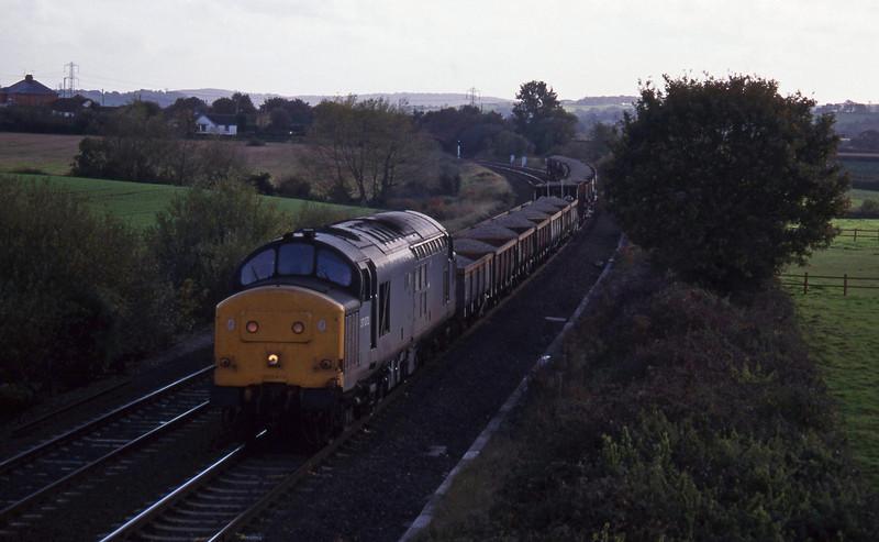 37072, up ballast, Willand, near Tiverton, 19-10-94.