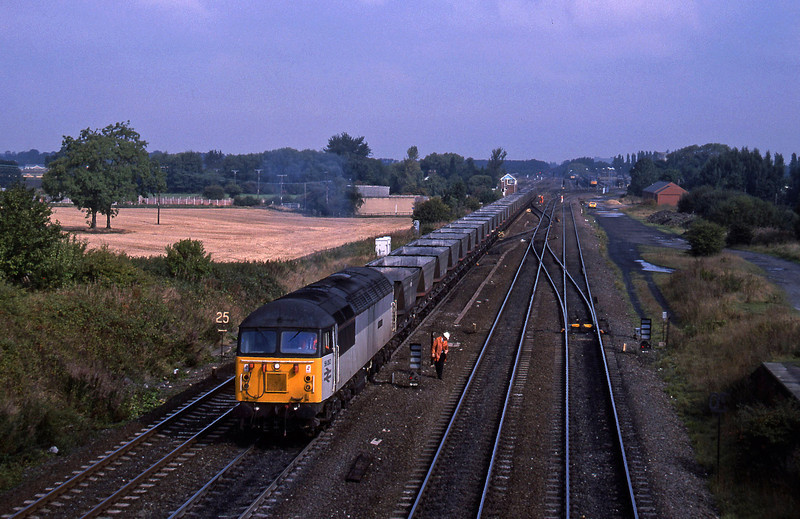 56062, up mgr empties to sidings, South Milford, 21-9-94.