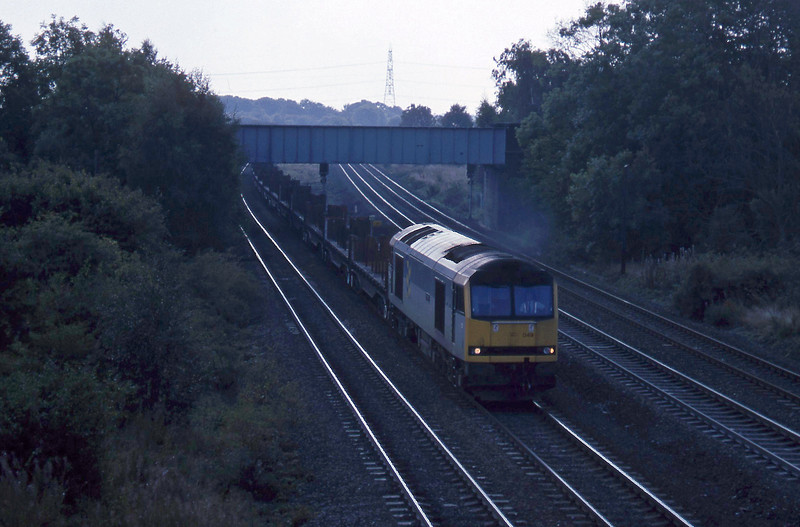 60049, down steel empties, South Milford, 21-9-94.