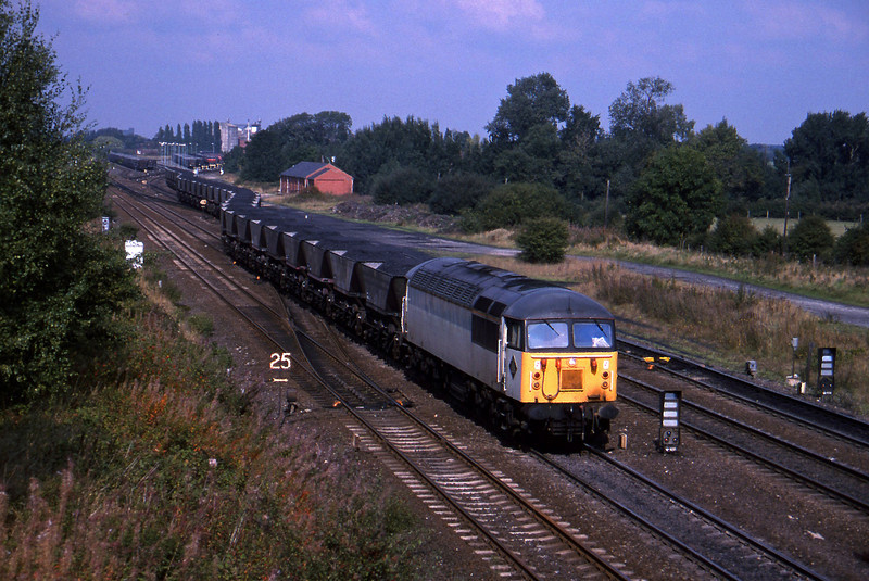 56078, shunting, South Milford, 21-9-94.