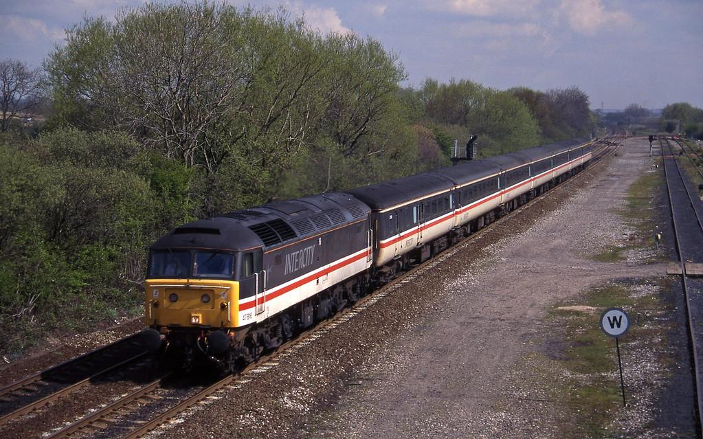 47816, 09.43 York-Exeter St David's, Stenson Junction, near Derby, 21-4-95.