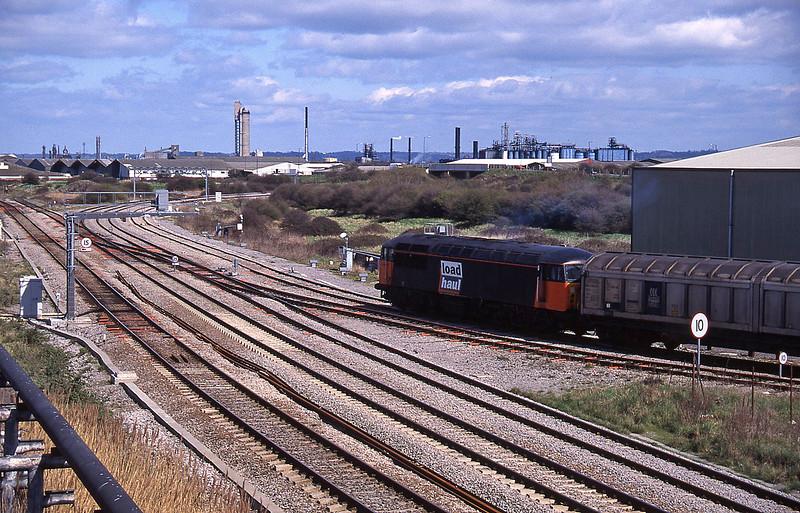 56050, departs with12.40 Avonmouth-Immingham, Hallen Marsh Junction, Avonmouth, 14.15, 7-4-95.