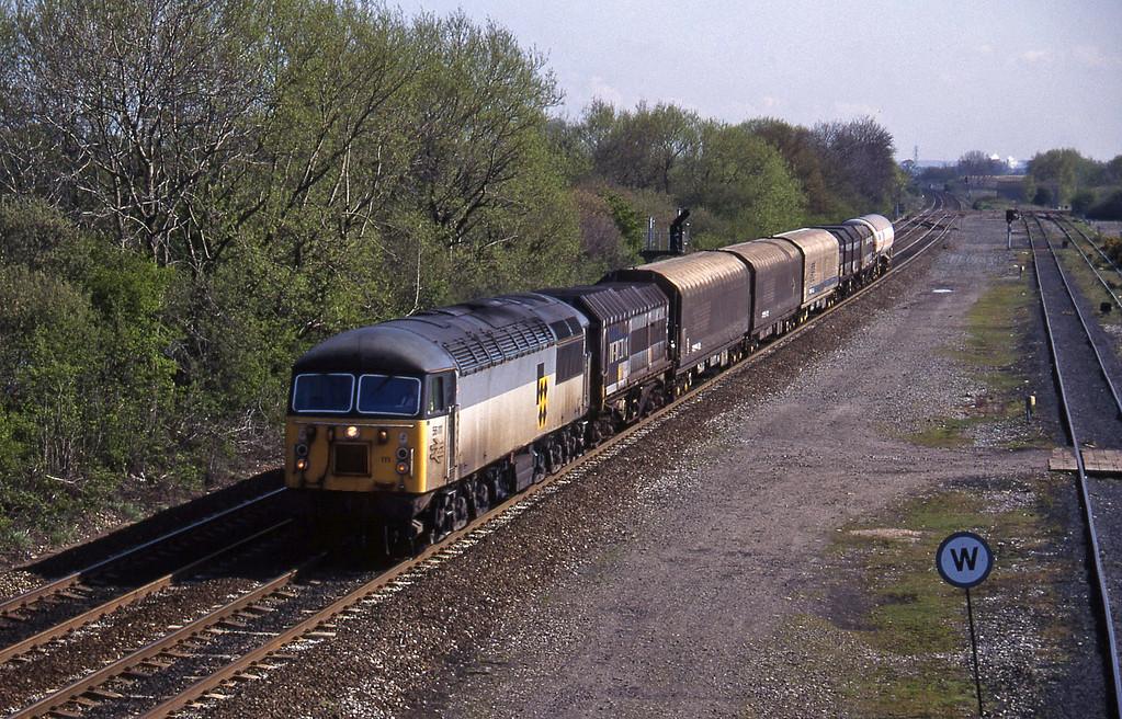 56111, Tees Yard-Washwood Heath Stenson Junction, near Derby, 21-4-95.