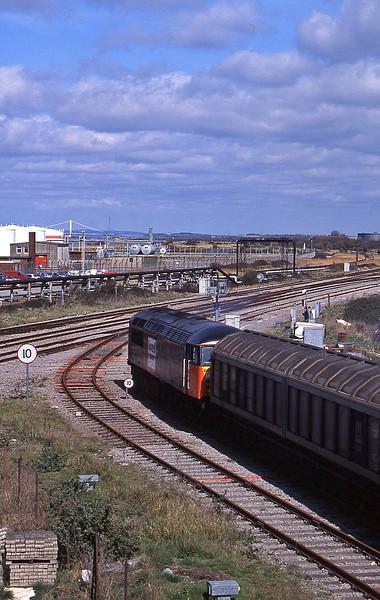 56050, 12.40 Avonmouth-Immingham, Hallen Marsh Junction, Avonmouth, 7-4-95.