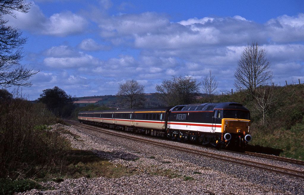 47847, 10.44 Plymouth-Manchester Piccadilly, Whiteball, 18-4-95.