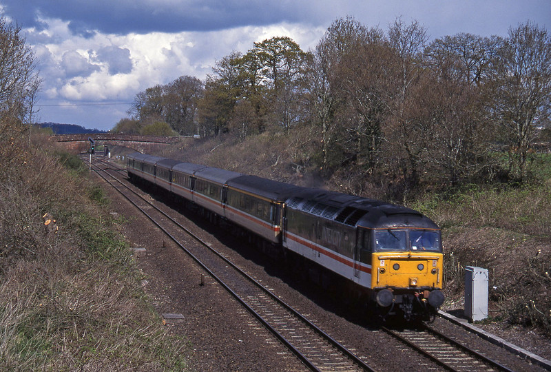 47812, 09.10 Liverpool Lime Street-Plymouth, Willand, near Tiverton, 19-4-95.