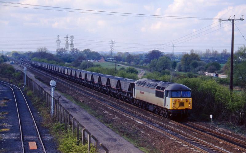 56133, down mgr empties, Stenson Junction, near Derby, 21-4-95.