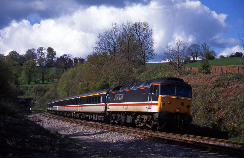 47830, 10.44 Plymouth-Manchester Piccadilly, Marlands, near Wellington, 19-4-95.