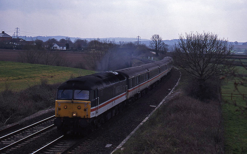 47810, 11.50 Plymouth-Liverpool Lime Street, Willand, near Tiverton, 5-4-95.