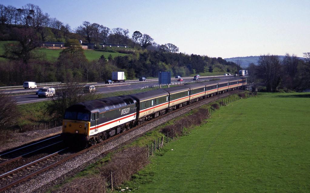 47812, 15.45 Plymouth-Derby, Cullompton, 12-4-95.