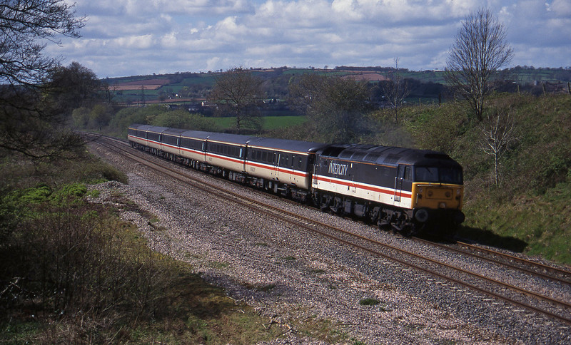 47840, 11.50 Plymouth-Liverpool Lime Street, Whiteball, 18-4-95.