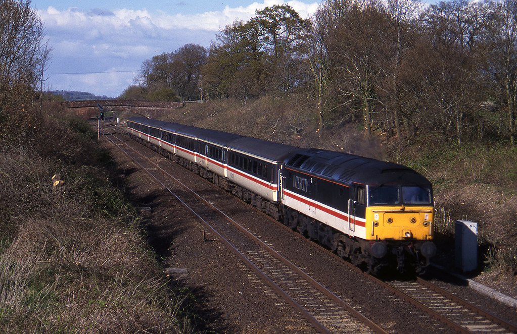 47805, 12.17 Manchester Piccadilly-Plymouth, Willand, near Tiverton, 18-4-95.