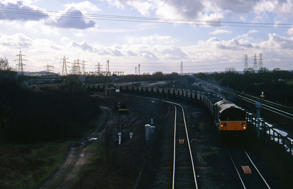 58035, Willington Power Station-Toton Yard mgr empties, Stenson Junction, near Derby, 17-2-95.