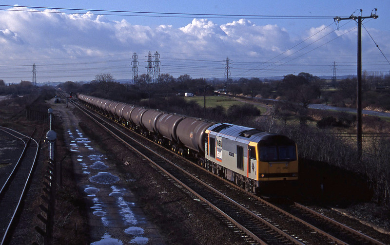 60050, down tanks, Stenson Junction, near Derby, 17-2-95.