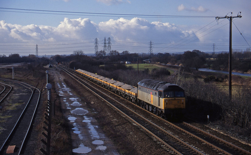 47256, down ballast, Stenson Junction, near Derby, 17-2-95.