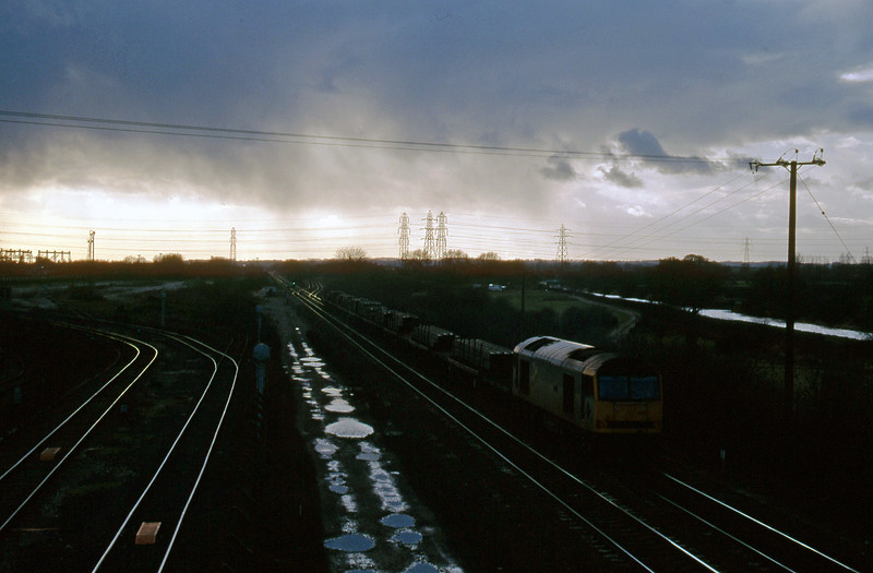 60031, down steel, Stenson Junction, near Derby, 17-2-95.