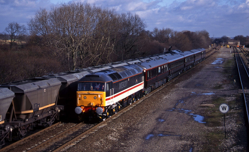 47834, up Statesman stock, Stenson Junction, near Derby, 17-2-95.