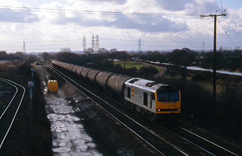 60070, down tanks, Stenson Junction, near Derby, 17-2-95.