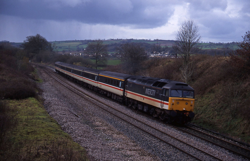 47843, 10.44 Plymouth-Manchester Piccadilly, Whiteball, 18-2-95.