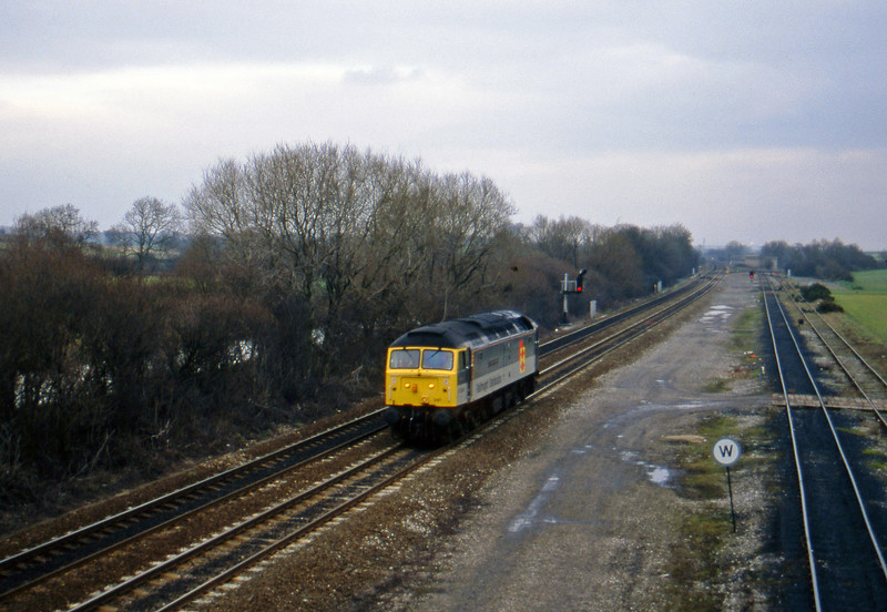 47241, up light, Stenson Junction, near Derby, 24-2-95.