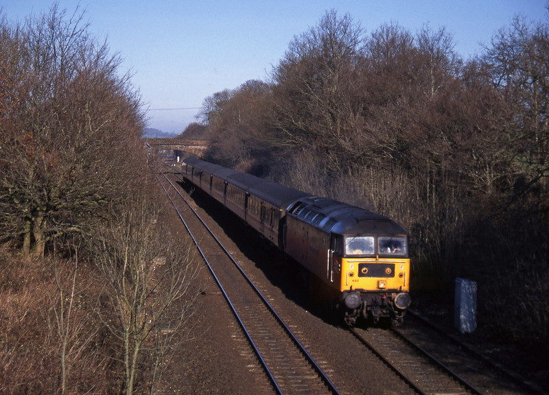 47640, 09.10 Liverpool Lime Street-Plymouth, Willand, near Tiverton, 4-2-95.