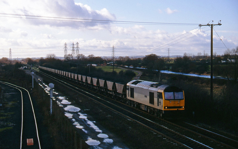 60017, down mgr, Stenson Junction, near Derby, 17-2-95.