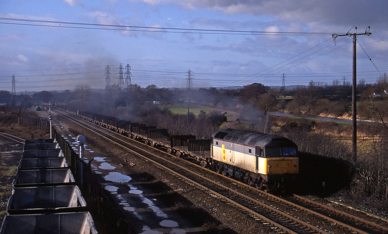 47284, down steel, Stenson Junction, near Derby, 17-2-95.