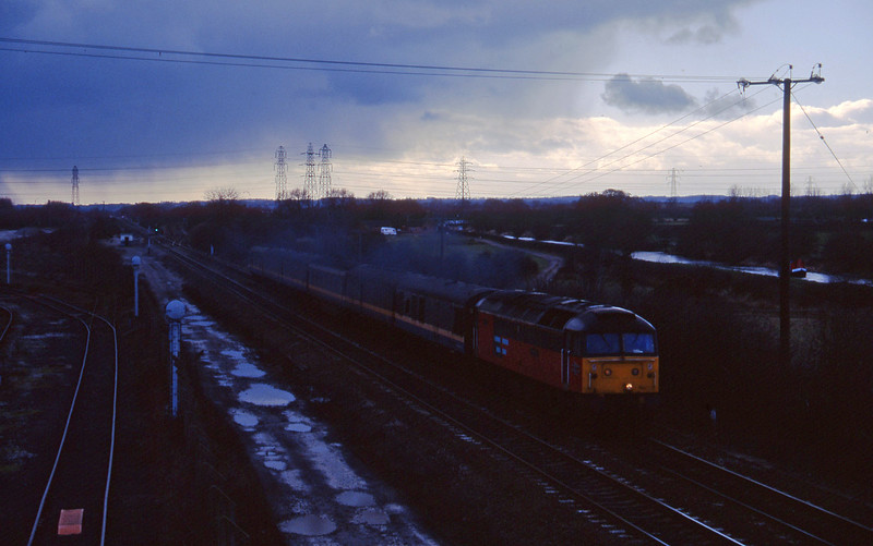 47778, down test train, Stenson Junction, near Derby, 17-2-95.