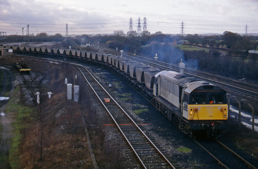58014, Willington Power Station-Toton Yard mgr empties, Stenson Junction, near Derby, 17-2-95.