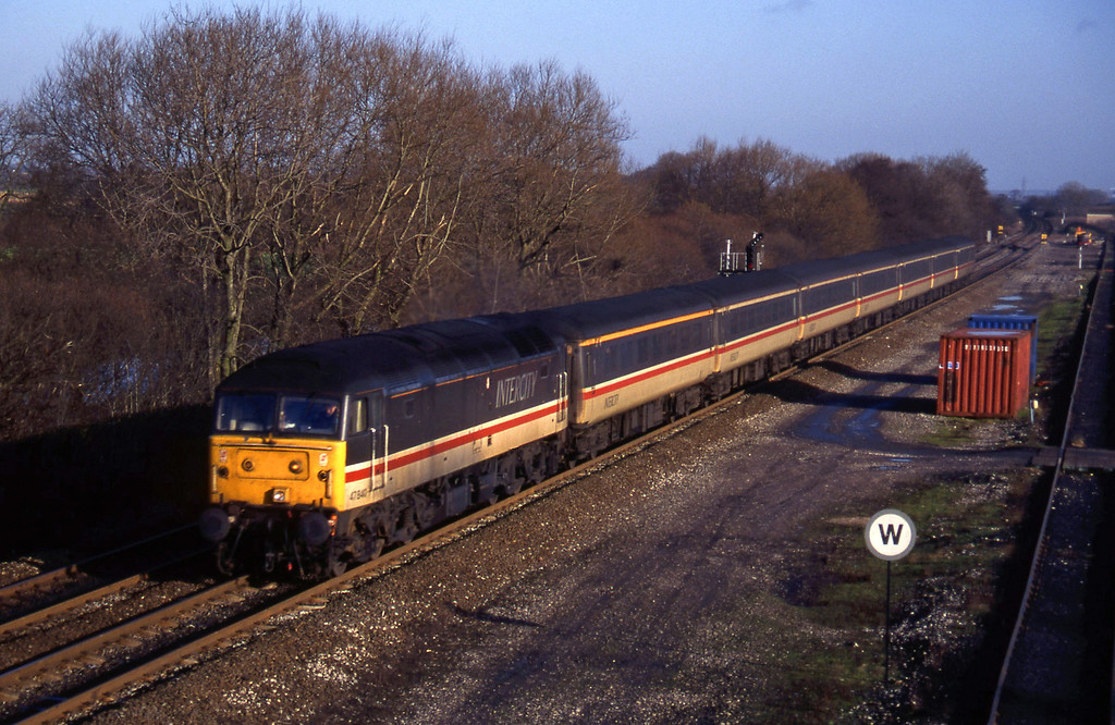 47840, up pass, Stenson Junction, near Derby, 6-1-95.