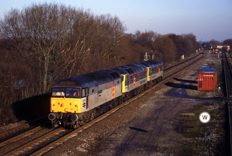 47195/47095/47326, light, north to south, Stenson Junction, near Derby, 6-1-95.