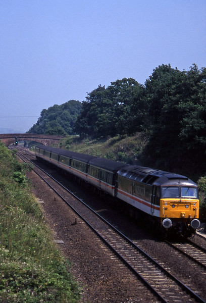 47849, 08.10 Liverpool Lime Street-Plymouth, Willand, near Tiverton, 1-7-95.