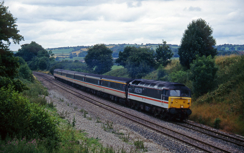 47814, 11.50 Plymouth-Liverpool Lime Street, Willand, near Tiverton,19-7-95.