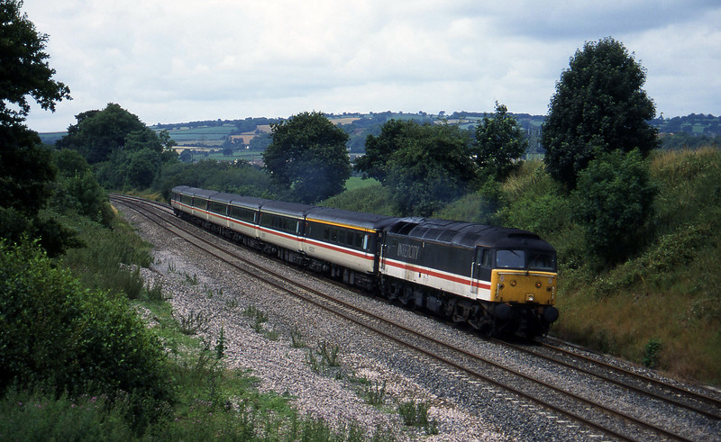 47810, 10.44 Plymouth-Manchester Piccadilly, Whiteball, 17-7-95.