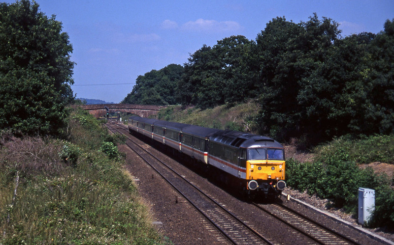 47847, 06.05 Glasgow-Paignton, Willand, near Tiverton, 8-7-95.