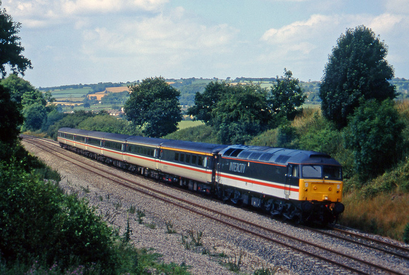 47851, 10.44 Plymouth-Manchester Piccadilly, Whiteball, 20-7-95.