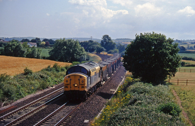 37046, up ballast, Willand, near Tiverton, 13-7-95.