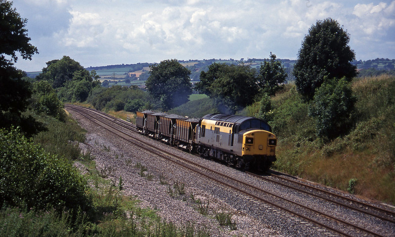 37012, 11.42 Meldon Quarry-Westbury, Whiteball, 12-7-95.