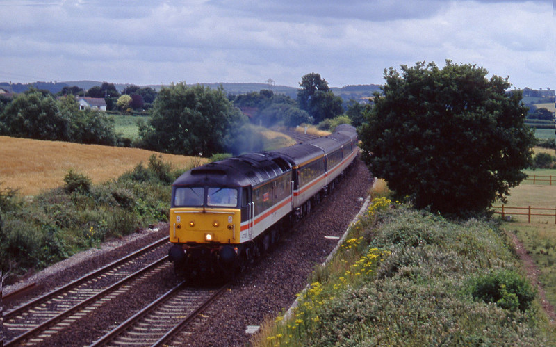 47831. 10.54 Penzance-Manchester Piccadilly, Willand, near Tiverton, 15-7-95.