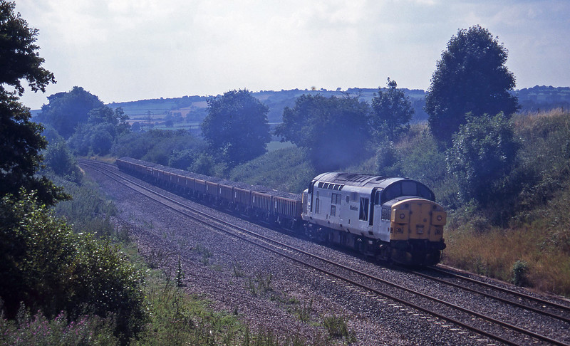 37051, 14.08 Meldon Quarry-Eastleigh, Whiteball, 20-7-95.