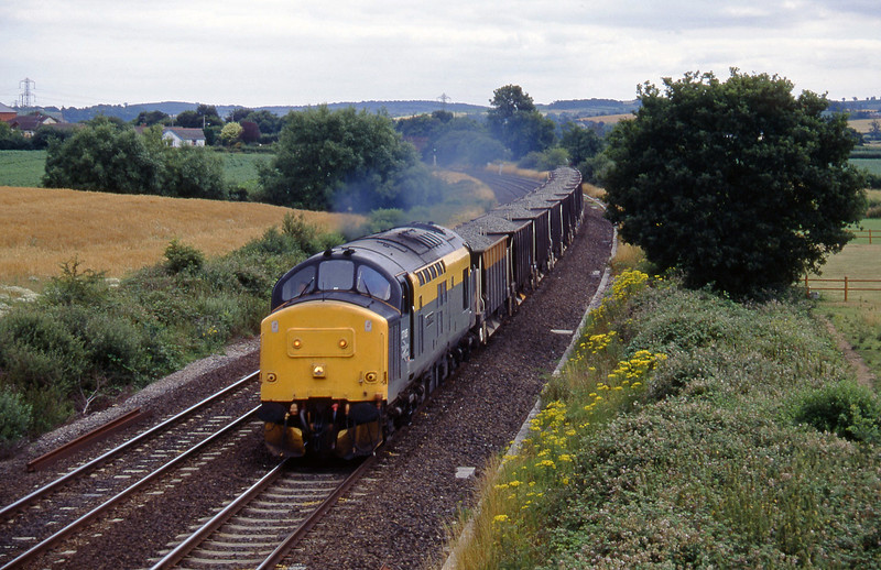 37185, up ballast, Willand, near Tiverton,19-7-95.