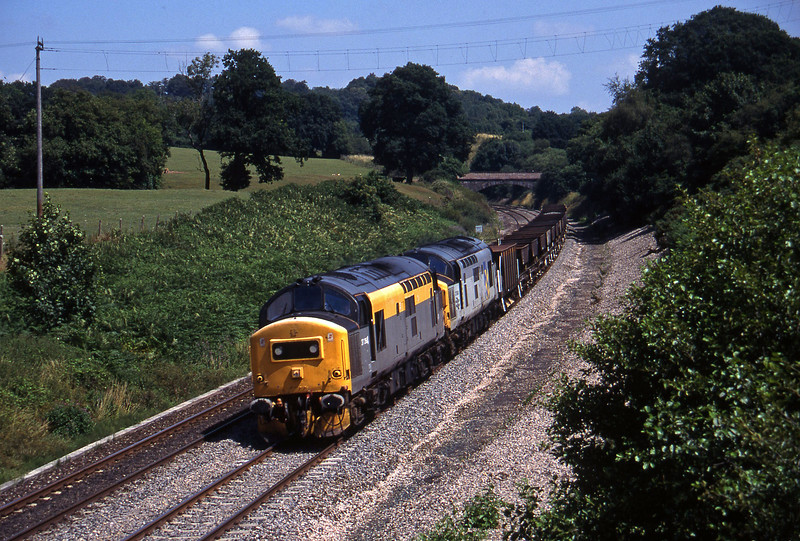 37264/37040, 12.00 Westbury-Meldon Quarry, Whiteball, 20-7-95.