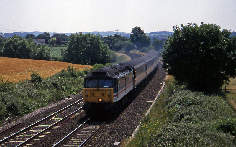 47828, 10.54 Penzance-Manchetser Piccadilly, Willand, near Tiverton, 8-7-95.
