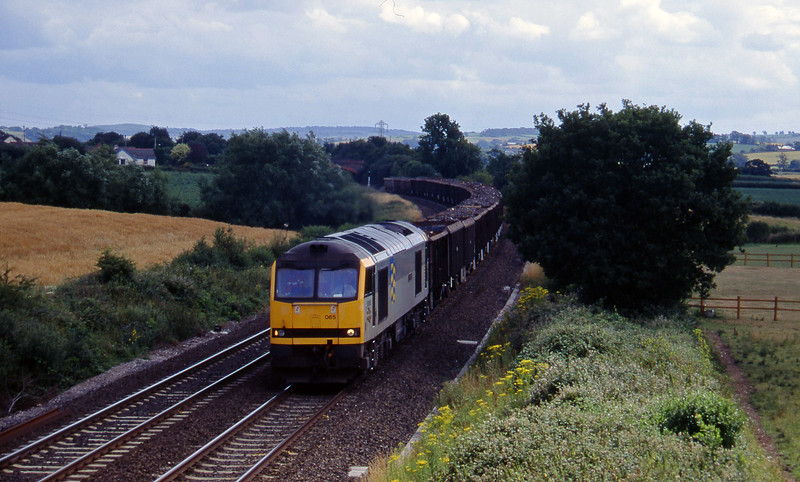 60065, 15.20 Exeter Alphington Road-Cardiff Tidal, Willand, near Tiverton,15-7-95.