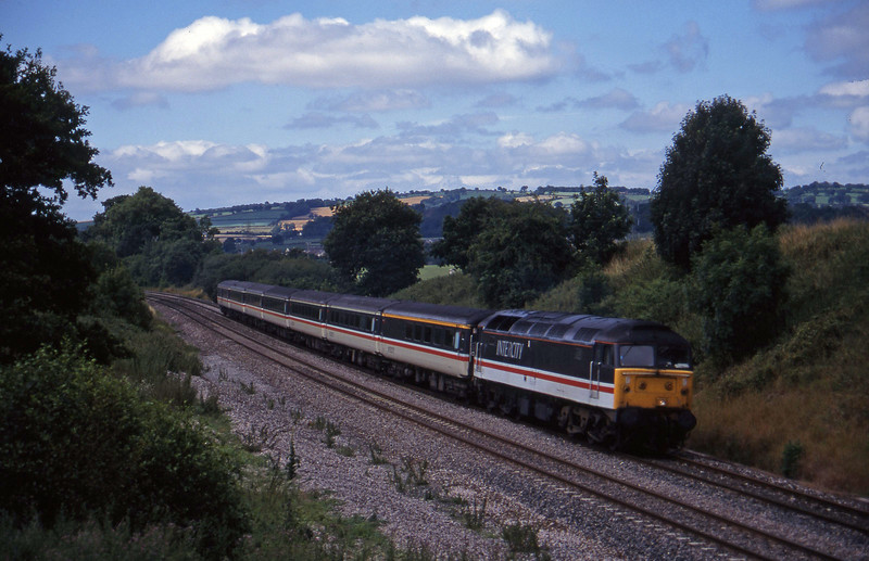 47817, 10.44 Plymouth-Manchester Piccadilly, Whiteball, 21-7-95.