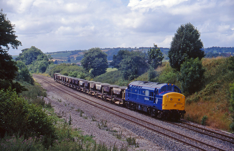 37274, 11.42 Meldon Quarry-Westbury, Whiteball, 21-7-95.