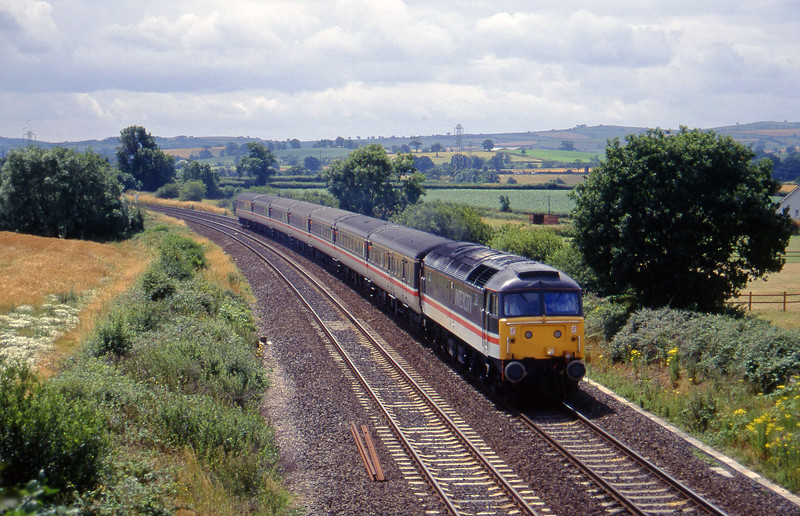 47847, 12.02 Paignton-Liverpool Lime Street, Willand, near Tiverton, 15-7-95.