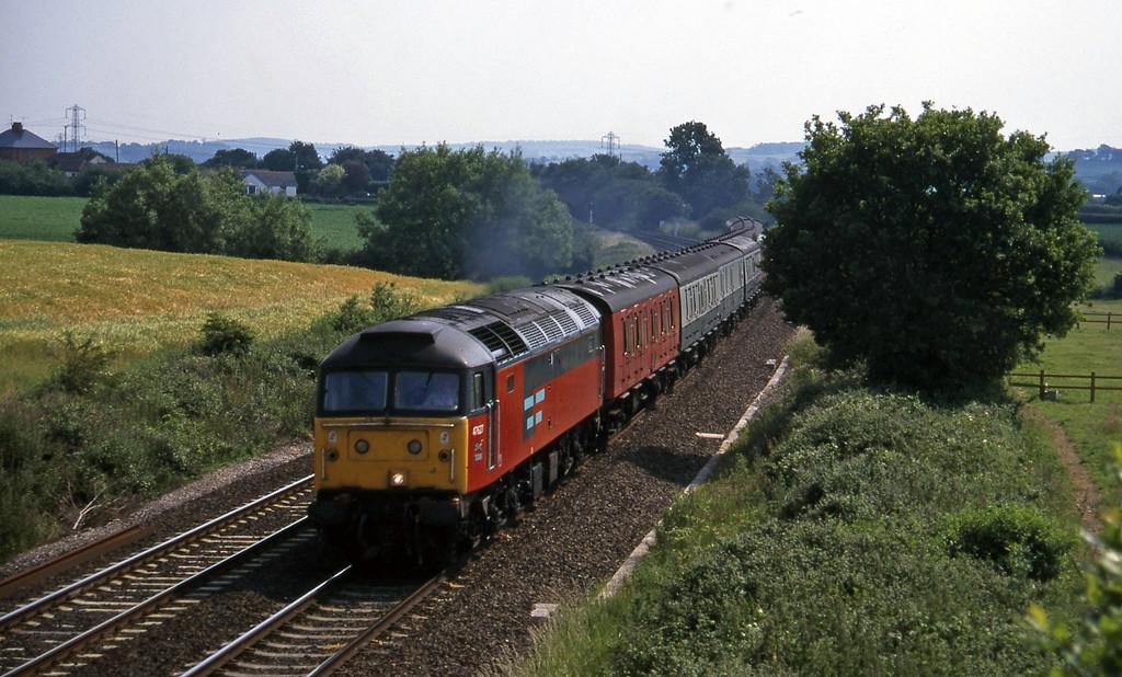 47627, 13.57 Plymouth-Crewe, Willand, near Tiverton, 22-6-95.