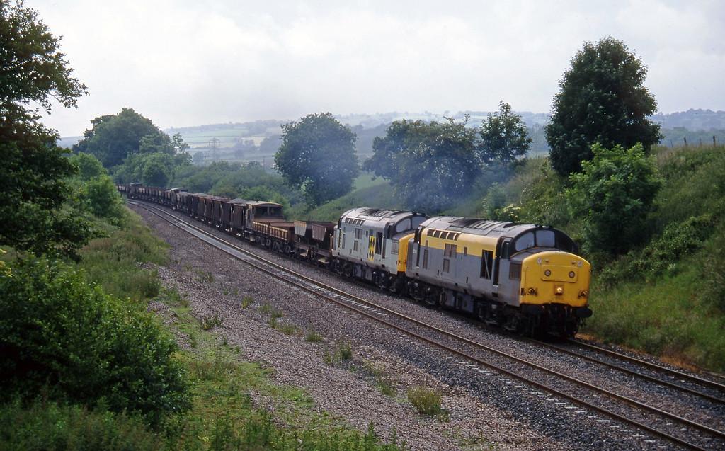 37146/37213, 15.30 Exeter Riverside Yard-Westbury Whiteball, 20-6-95.