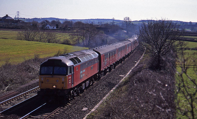 47736, 14.30 Paignton-Newcastle, Willand, near Tiverton, 29-3-95.